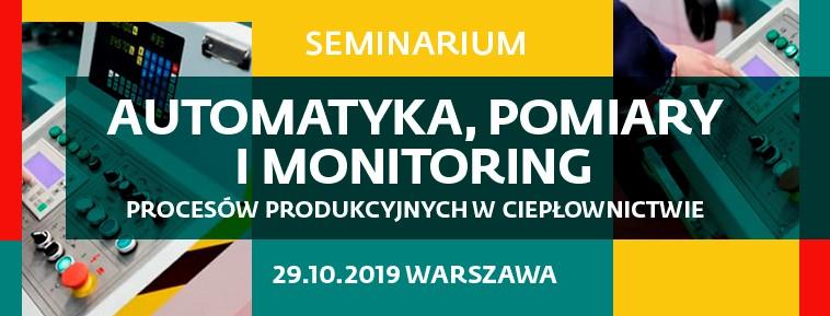 Automatyka, pomiary i monitoring procesów produkcyjnych w ciepłownictwie